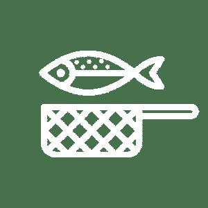 Icoon gebakken vis